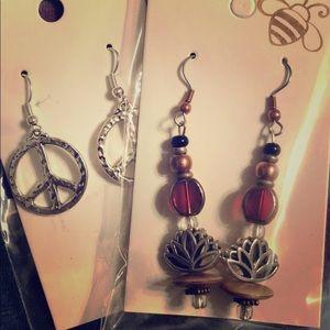 WildHoney handmade wearable Art earrings.